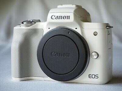 Canon EOS M50 Mirrorless Digital Camera Body only -WHITE-