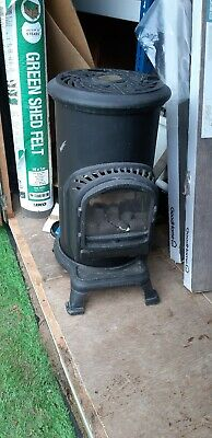 Thurcroft Black Cast iron pot belly gas stove.Used but good condition