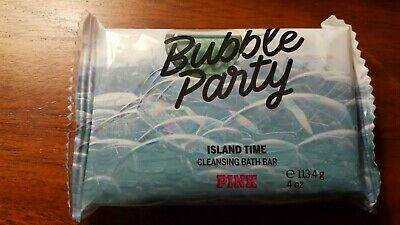 PINK Bubble Party Island Time Cleansing Bath Bar New