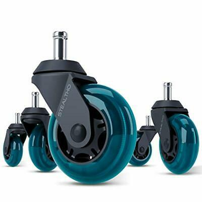 STEALTHO Replacement Office Chair Caster Wheels Set of 5 - Protect Your Floor -