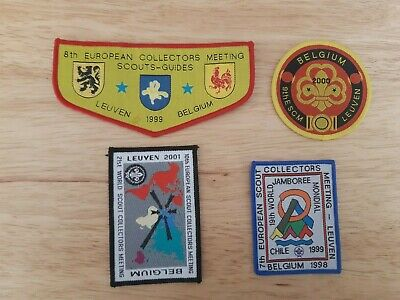 in532 LOT 4 INSIGNES SCOUT COLLECTORS MEETING LEUVEN BELGIUM SCOUTING BADGE