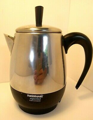 Farberware Superfast Stainless Steel 2-4 Cup Electric Coffee Percolator FCP240-A