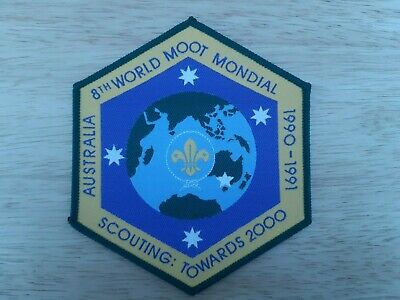 in535  INSIGNE SCOUT 8th WORLD MOOT WORLD AUSTRALIA 1990-91  SCOUTING BADGE