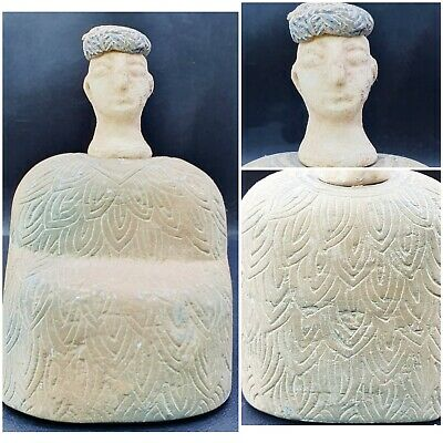 Ancient museum quality Excellent Carving Bactrian Idol Composite Stone Statue#15