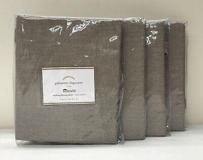 4 NEW Pottery Barn Sunbrella Palmetto Stacking Dining Chair Cushion Slipcover