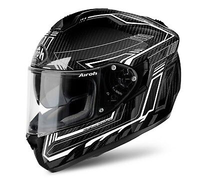 New Airoh Full Face Motorcycle Helmet St 701 Safety Full Carbon White Gloss
