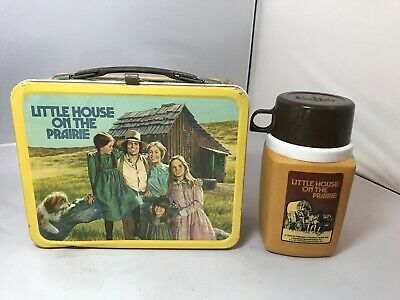 "VINTAGE 1978 ""LITTLE HOUSE ON THE PRAIRIE"" METAL LUNCHBOX w/ THERMOS!"