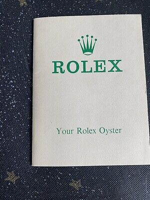 "Very RARE Rolex guarantee booklet  ""Your Rolex Oyster"""