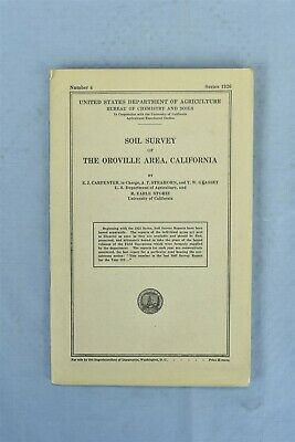 Antique 1926 SOIL SURVEY OROVILLE AREA CA BOOK NUMBER 4 US DEPT AGRICULTURE 9933