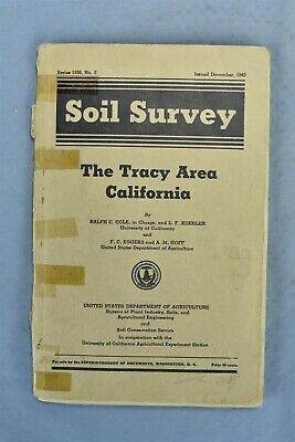Antique 1943 SOIL SURVEY TRACY AREA CA BOOK NUMBER 5 US DEPT AGRICULTURE 942