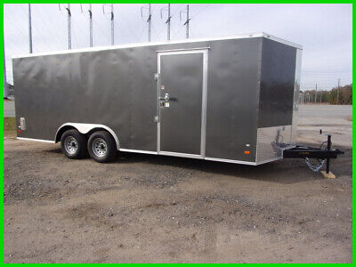 2020 Covered Wagon 8.5x20 Charcoal W/ Ramp Door New