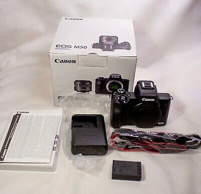 Canon EOS M50 Mirrorless Camera - Black (Body Only)