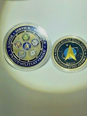 GOLDEN - RARE Unique USA U.S. Space Force / Air Force +Trump 2020 Coin