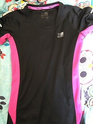 Karrimor Girls 13 Years Black Pink Short Sleeve Running Top (D14)
