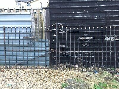 Reclaimed Wrought Iron Gates Garden or Driveway | Vintage Old Rustic Antique