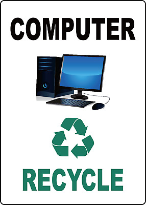 office computer recycle  | aDHESIVE vINYL sIGN dECAL
