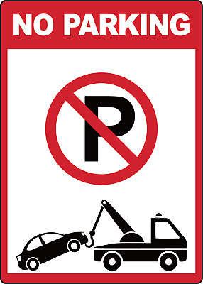 NO PARKING!  | Adhesive Vinyl Sign Decal