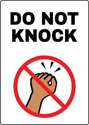 DO NOT KNOCK | Adhesive Vinyl Sign Decal