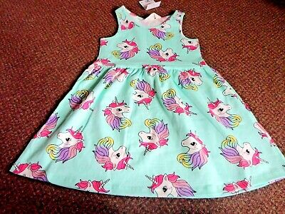 NEW girls h+m unicorn summer dress 6 - 7 - 8 YEARS  - bnwt - new and tagged
