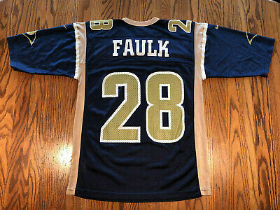 Marshall Faulk St. Louis Rams Official NFL Nike Team Home Jersey Medium