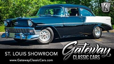 1956 Chevrolet Bel Air/150/210  Black & White 1956 Chevrolet 210  350 CID V8 3 Speed Automatic Available Now!