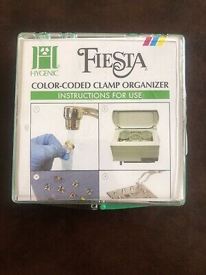 Dental Coltene Color Coded Winged Clamp Pak Fiesta 9 H09966