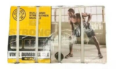 Golds Gym Vinyl 40 lb Adjustable Weight Set - NEW! FAST SHIPPING