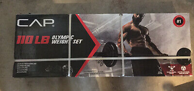 CAP Barbell Olympic Weight Set |110 LBS with Plates| IN HAND - FREE SHIPPING