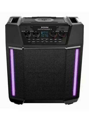 ION Pathfinder 3 Charger Bluetooth Portable Speaker with Wireless Qi Charging