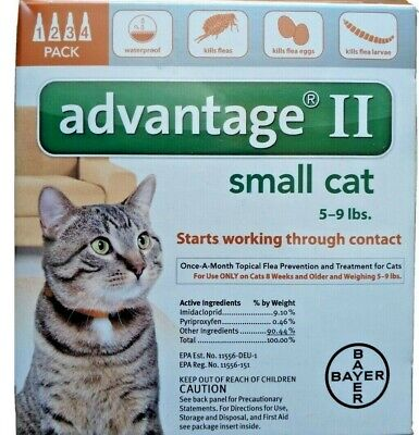 Bayer Advantage II Flea Treatment For Small Cats 5-9 lbs 4 Doses