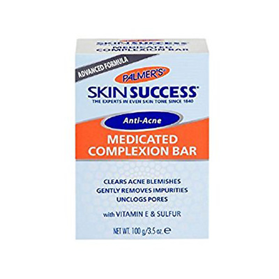 ANTI ACNE MEDICATED COMPLEXION SOAP 100G by PALMERS + UK FREE DELIVERY