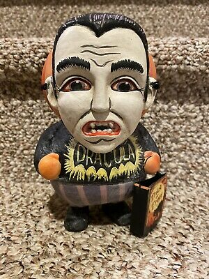 Very Rare: Bethany Lowe Greg Guedel : Pumpkin Head Dracula Halloween RETIRED
