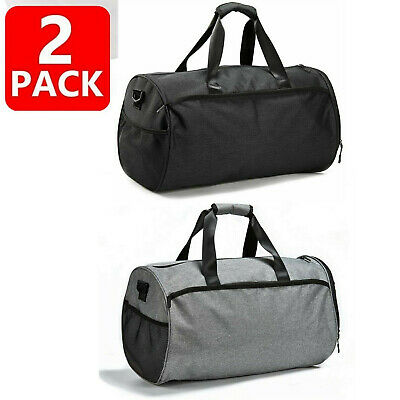 2x Gym Bag for Men Women Duffel Bag with Shoes Compartment Wet Pocket Large T
