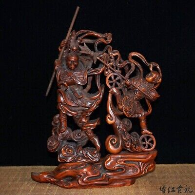 Collectable China Old Boxwood Hand-Carved Immortal Delicate Unique Decor Statue