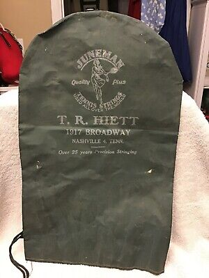 Rare Juneman Tennis Racket Cover Strings Nashville Tennessee Free Shipping