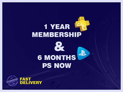 1 YEAR(364days-14x26)PLAYSTATION PLUS ps4+ 6MONTHS PLAYSTATION NOW(182days-7x26)