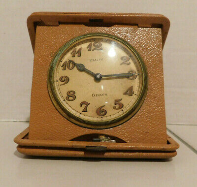 Vintage (1930s?) Elgin 8 Days Travel Clock - Fixer