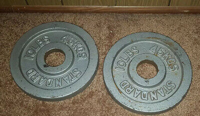 10lb Olympic Weight Plates Pair : 2 Plates 20lbs Total : BARBELL STANDARD PLATES