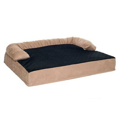 Orthopedic Memory Foam Joint Relief Bolster Dog Bed 18 x 25 Inches Small