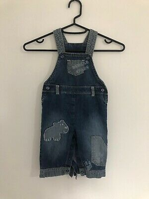 Marks And Spencer M&S Baby Bear Denim Dungarees Age 3-6 Months