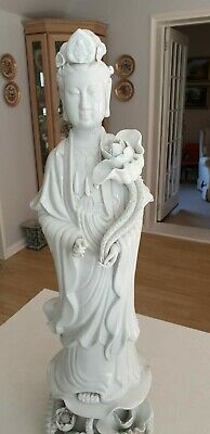 Beautiful Kwan Yin porcelain figurine. Extremely rare at a height of 60cm.