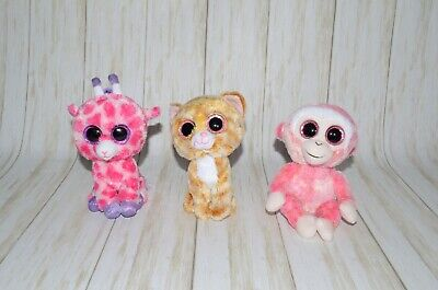 Ty Beanie Boos Plush Stuffed Animal Lot Of 3