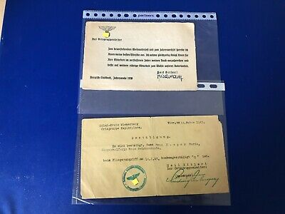 Ww2  German Collection Of 2 Documents R2