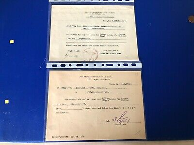 Ww2  German Collection Of 2 Documents R3