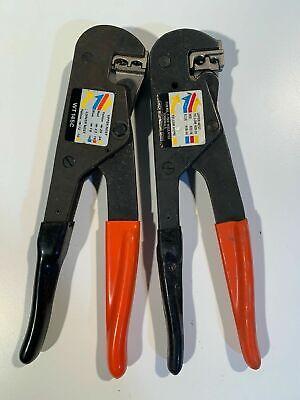 2x Thomas Betts T&B Sta-Kon Ratchet Hand Tool Sure Stake WT145C & WT145A - USED