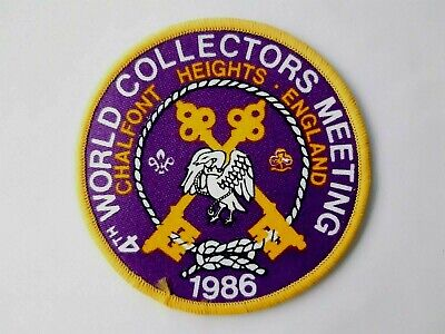in544 INSIGNE SCOUT 1986 WORLD COLLECTORS MEETING CHALFONT UK SCOUTING BADGE