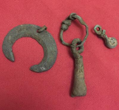 Viking ancient amulets pendants pegan authentic  7-8 century AD