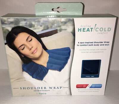 Aromatherapy Healing Heat Cold Shoulder Wrap Relaxing Spa Lavender Peppermint