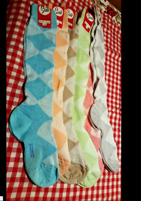 Vintage Fil D'ecosse ladies fine mesh quality Socks 1970s Pattern various sizes