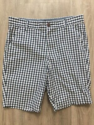 Next Boys White And Navy Blue Check Shorts 15 Years Worn Once Vgc